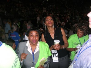 Two black women anxious re vote