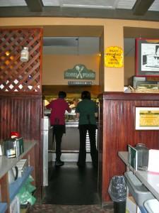 Women in kitchen at counter of Wayside Restaurant in Montpelier, VT 2011