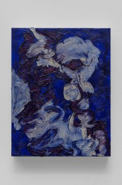 """Untitled #11, oil bar on panel, 9 x 7"""", 2015"""