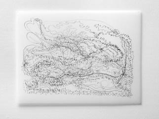 "Untitled #15, graphite on vellum, 19 x 24"", 2009"