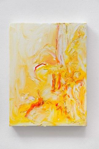 "Yellow #5, oil bar & graphite on panel, 12 x 9"", 2015"