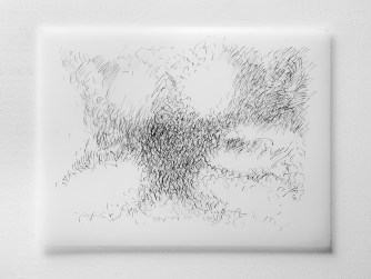 "Untitled #20, graphite on vellum, 19 x 24"", 2009"