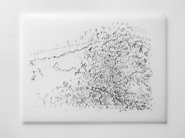 "Untitled #21, graphite on vellum, 19 x 24"", 2009"