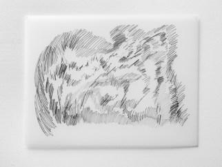"Untitled #25, graphite on vellum, 19 x 24"", 2009"