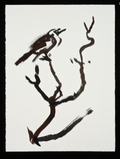 "Birds, 1.22.14.4, watercolor on paper, 30 x 22.5"", 2014"