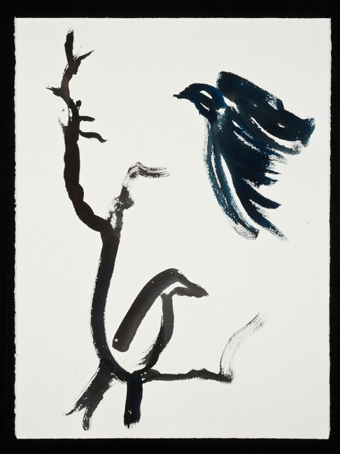 "Birds,1.22.14.5, watercolor on paper, 30 x 22.5"", 2014"