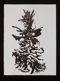 "Dancing Bird Goddess, 11.9.13.2, watercolor & ink on paper, 30 x 22.5"", 2013"