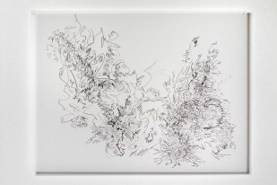 "Untitled #8, graphite on vellum, 19 x 24"", 2011"