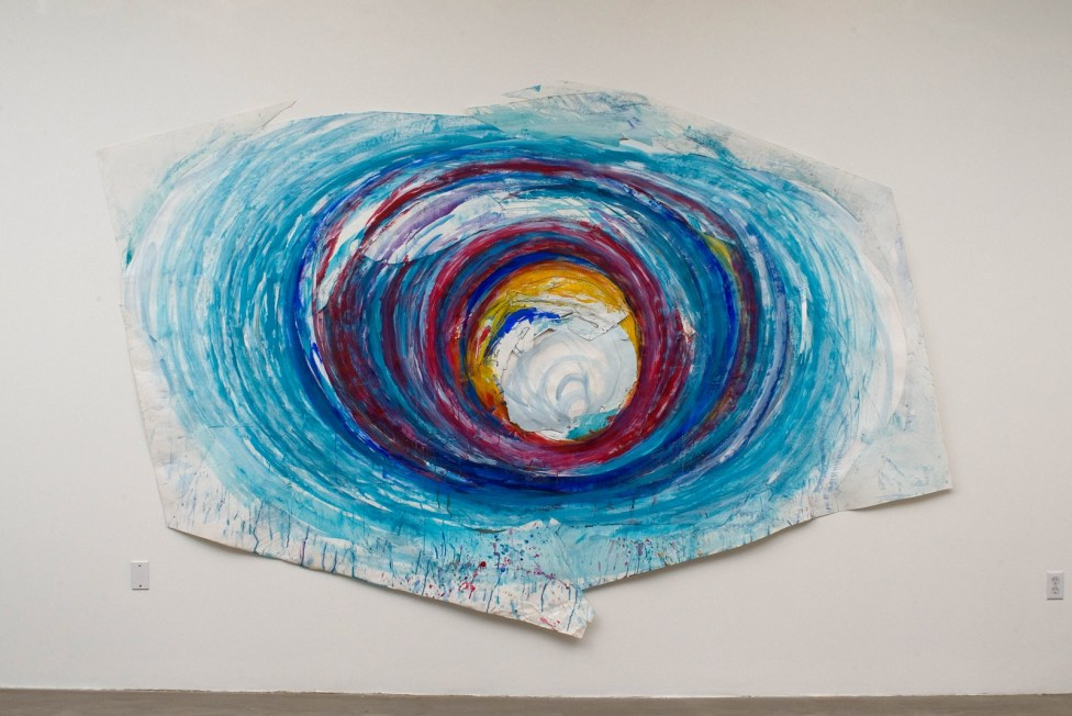 "Vortex, collaged acrylic & graphite on paper, 88 x 136"", 2008"