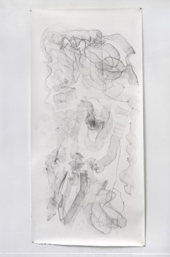 "For Emilie I, graphite on paper, 108 x 50"", 2014"