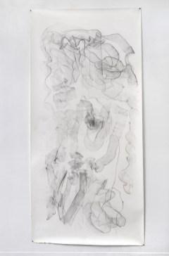 "For Emilie I, graphite on paper, 108 x 50"", 2014"