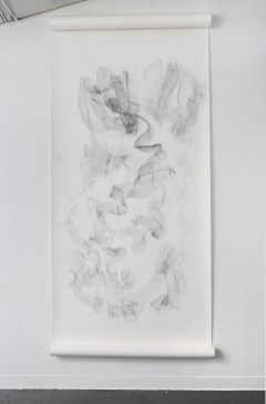 """For Emilie III, graphite on paper, 108 x 50"""", 2014"""