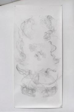 "For Emilie VI, graphite on paper, 108 x 50"", 2014"