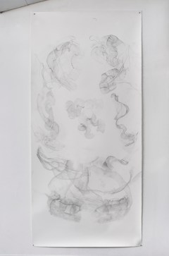 "For Emilie VI, graphite on paper, 108 x 50"", 2014"