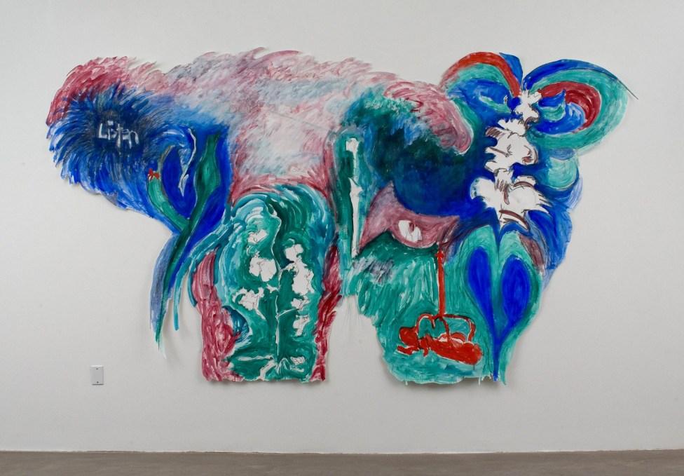 "Listen, acrylic & graphite on paper, 80 x 144"", 2007"