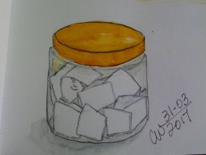 Sketching ideas jar