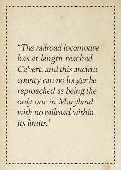 """Chesapeake Beach R.R., The Track Laid to the Border of Calvert County, Eight Miles From the Bay"""". The Baltimore Sun, p.8, June 23, 1899."""