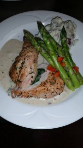Airline Chicken with Garlic Cream Sauce served with Asparagus and Garlic Mashed Potatoes - Chesapeake Conference Center