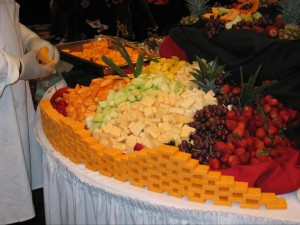 Cheese Wall with Fruit Display - Chesapeake Conference Center