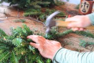 We make our wreaths by hand at Chesapeake's Bounty
