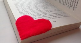 felt heart bookmark, heart bookmark, mothers day bookmark