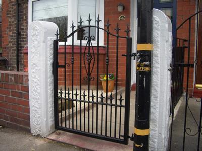 Single Gates Single Wrought Iron Gates Manchester