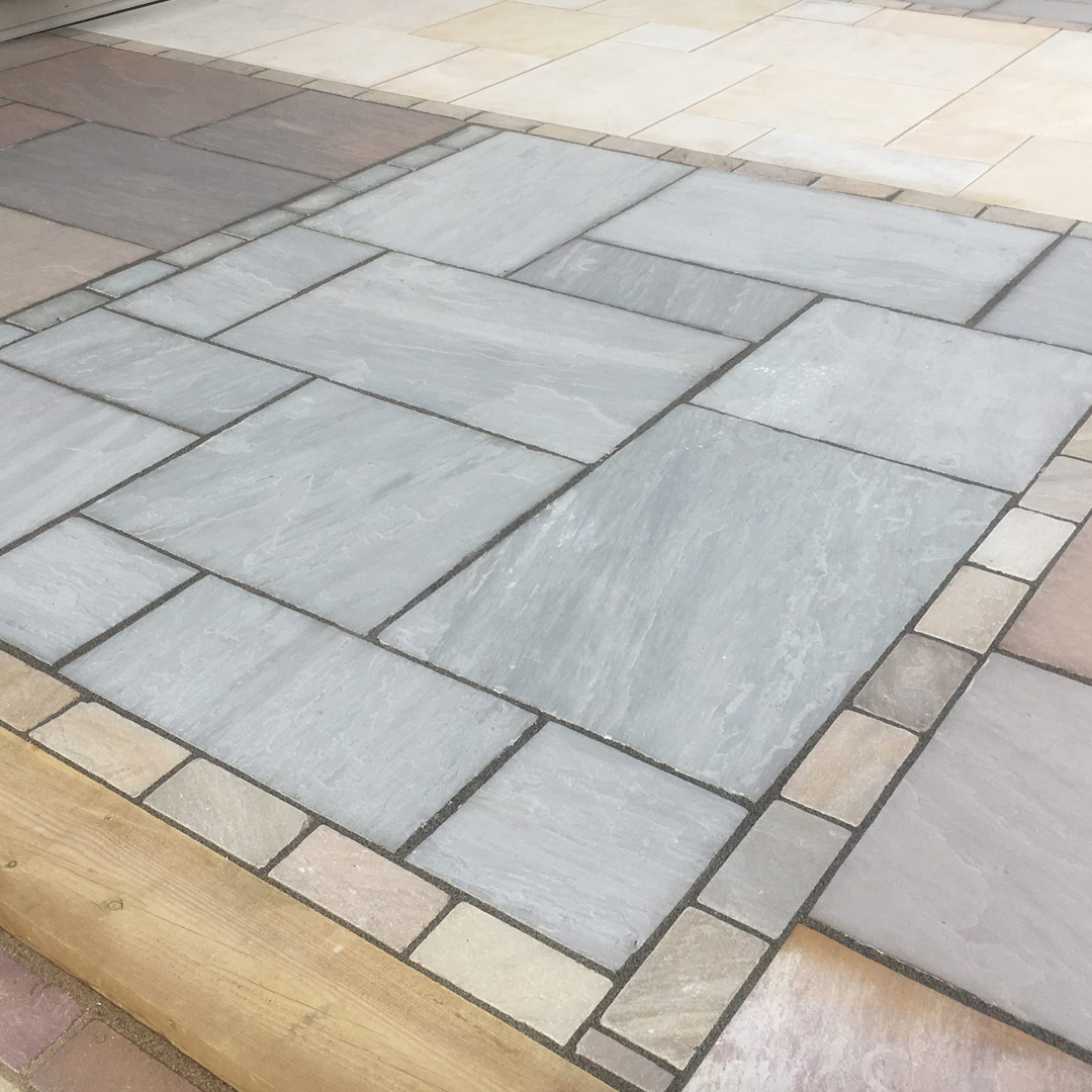 Kandla Grey Sandstone Mixed Sized Patio Pack 163 369 99 Inc