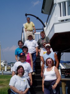 Photo by Anne Puppa Group shot of volunteers at Hooper Strait. July 2007