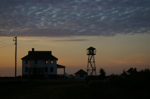 Photo by Anne Puppa  Sun sets at the Old Coast Guard Station Assateague Island