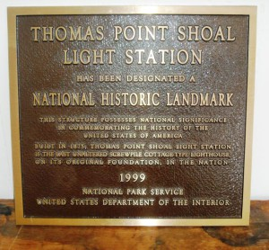 Official plaque from the National Park Service declaring TPSLS a National Historic Landmark in 1999