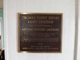 Plaque at Thomas Point Shoal Lighthouse