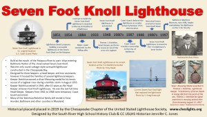 Historical Placard: Seven Foot Knoll Lighthouse (Outdoor)