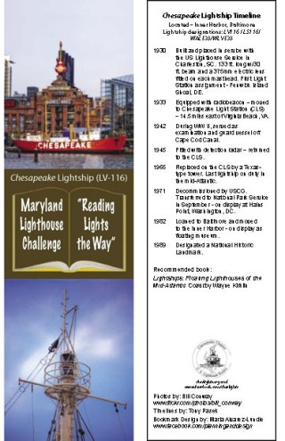Lightship Chesapeake Bookmark