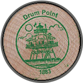2005 Wooden Coin Souvenir-Drum Point