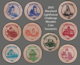 2005 Wooden Coin Souvenirs