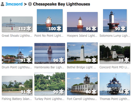 Chesapeake Bay on-line puzzles