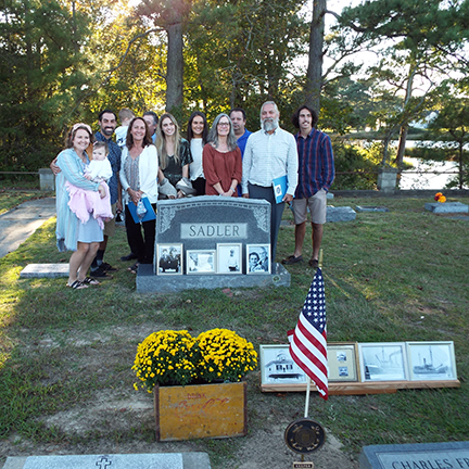 Descendants of honored Keeper Charles Franklin Sadler