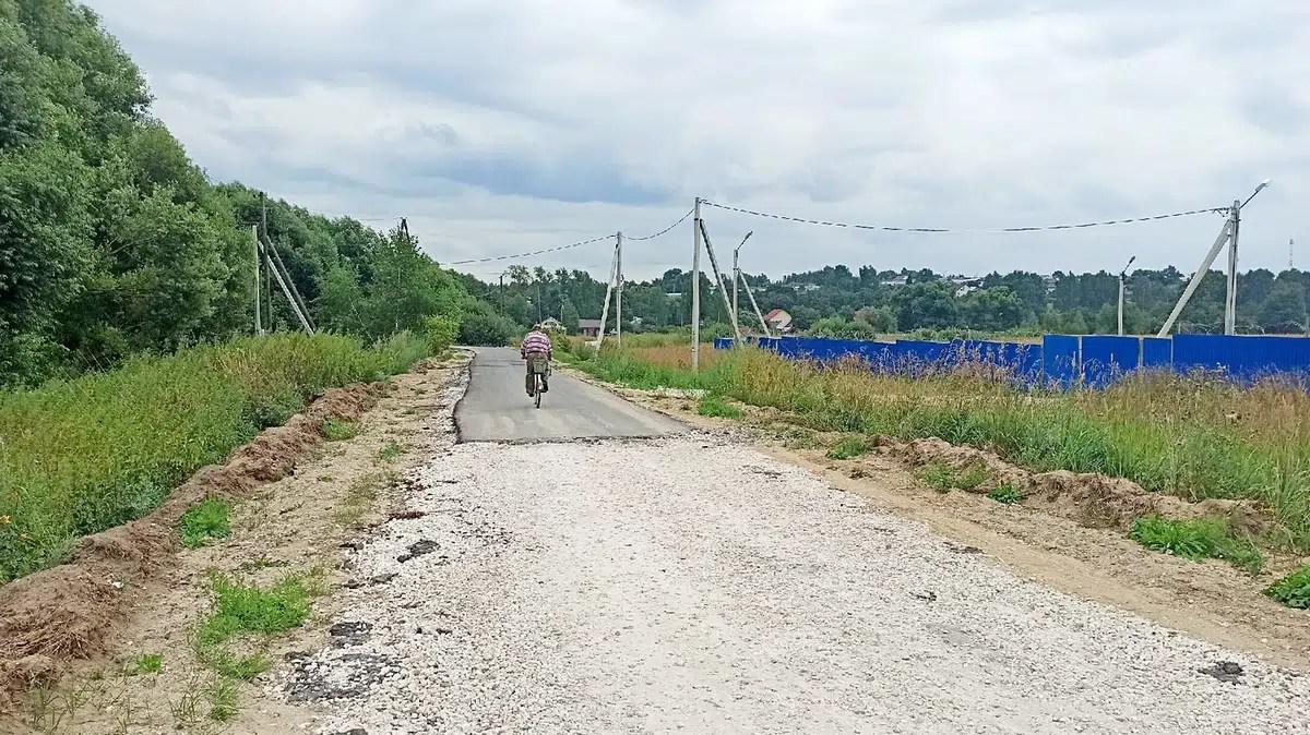 Откуда в Лакинске взялась новая дорога с заплатками?