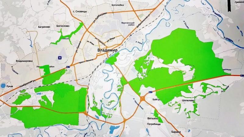 Администрация области не исполняет закон о зеленом щите города Владимира