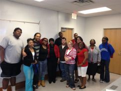 Mrs. Amerson with #FSUBroncos students at a recent a workshop in preparation for the upcoming conference