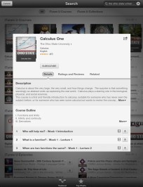 Calculus One - iTunes U