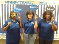 Mrs. Harris, Mrs. Chan, and Mrs. Flanigan (Chesnutt Library Photo Booth), Homecoming 2013, Fayetteville State University)