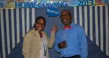Ms. Lofton and Mr. Foster (Chesnutt Library Photo Booth), Homecoming 2013, Fayetteville State University)