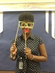 Ms. Jones (Chesnutt Library Photo Booth), Homecoming 2013, Fayetteville State University)