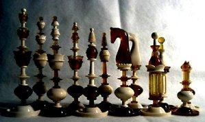 Amber Selenus Style Chessmen