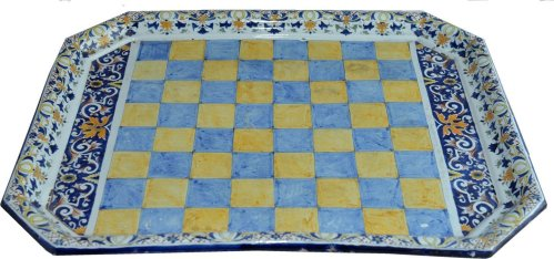 Antique Chess Board French Faience