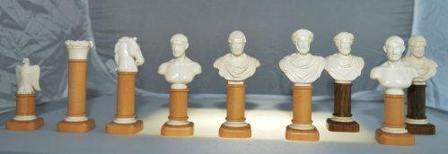 Imperial Roman Bust Chessmen
