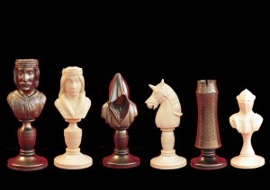 Knight Mammoth Ivory Bust Chess Set