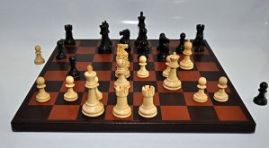 Jaques Inlaid Leather Chessboard