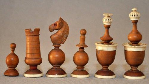 French Lyon Antique Chess Set